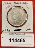 1922 Peace Dollar (MS-65 Unc.)