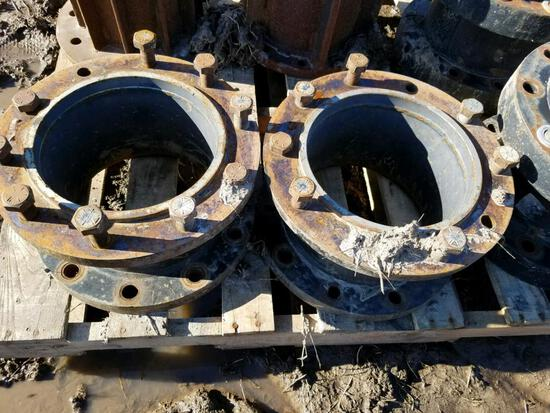"Pair of 8"" 10-Bolt Case IH Dual Spacers"