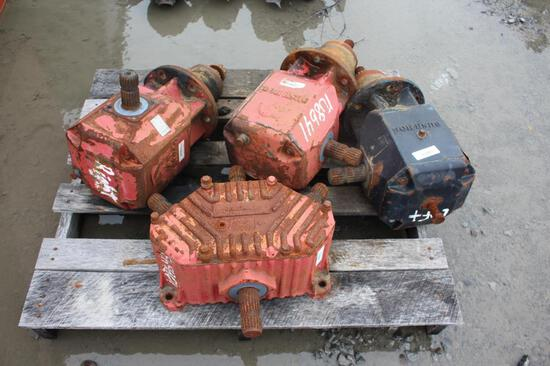 Lot of (4) Bush Hog Batwing Cutter Gearboxes