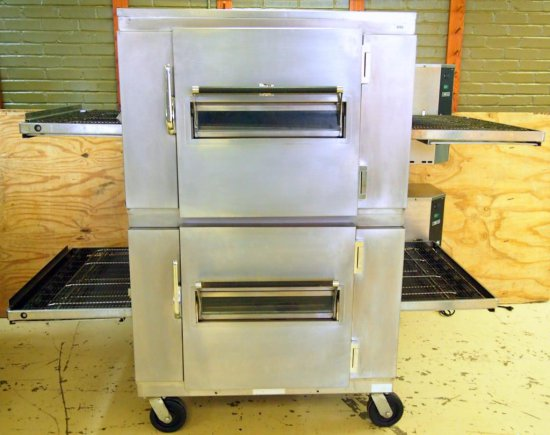 Lincoln double conveyor pizza oven