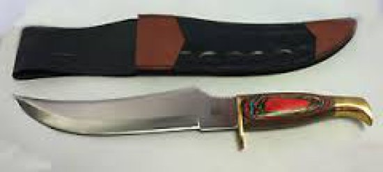 "CHIPAWAY 12"" COLORED WOOD HUNTING KNIFE"