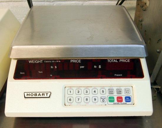 Hobart 30lb scale