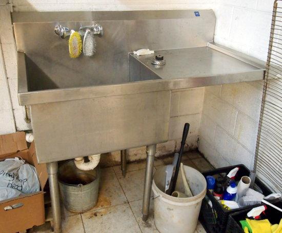 Sgl comp vegetable sink
