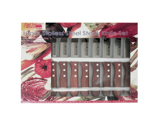 Chef Deluxe 10 pcs Stainless Steel Steak Knife Set