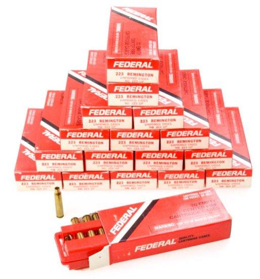Commercial .223 Unprimed cases