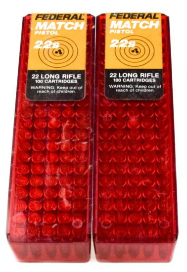 Commercial .22 LR Pistol Match Ammo