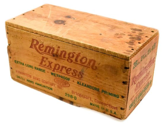 Unopened Wood Case of Remington Skeet Loads 28 ga