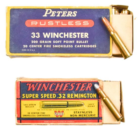 .32 Remington and .33 Winchester Ammo