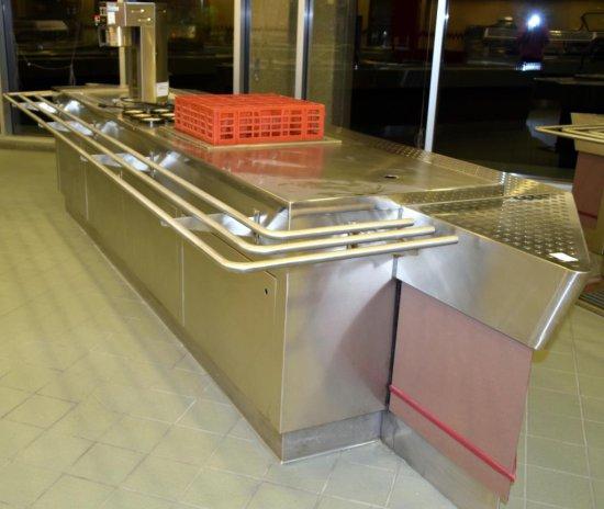 "17'x56"" Cafeteria Beverage Service Line"