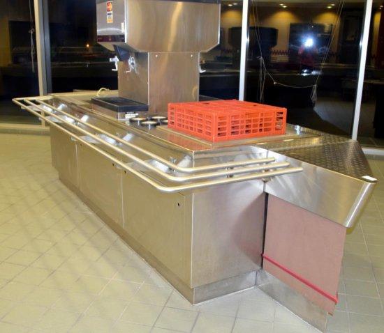 "14'x56"" Cafeteria Beverage Service Line"