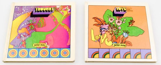 Vintage Peter Max Hard Cover Books