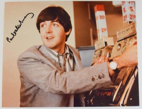 Paul McCartney Autographed Photo