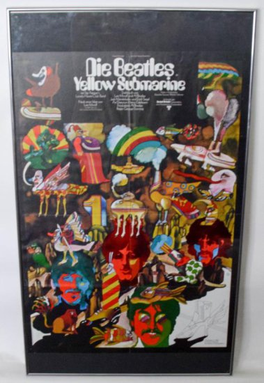 "Beatles ""Yellow Submarine"" Framed Poster"