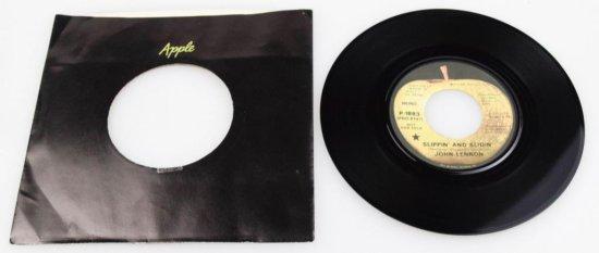 """John Lennon """"Slippin And Slidin"""" Vinyl 45"""
