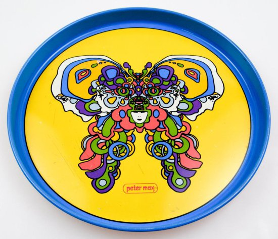 Vintage Psychedelic Peter Max Tray