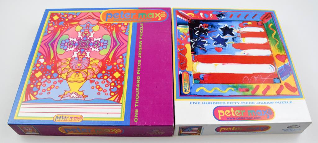 Two Peter Max Jigsaw Puzzles