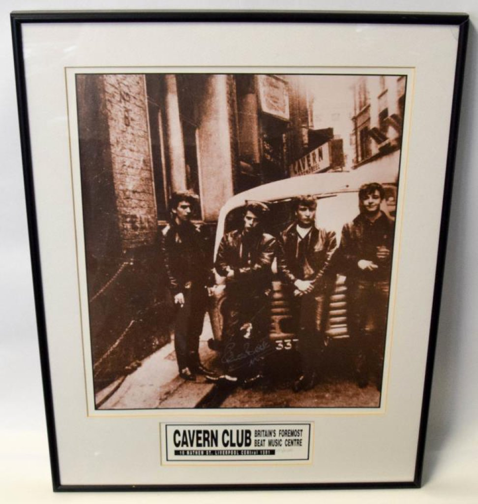 Pete Best Signed Beatles Cavern Club Photograph