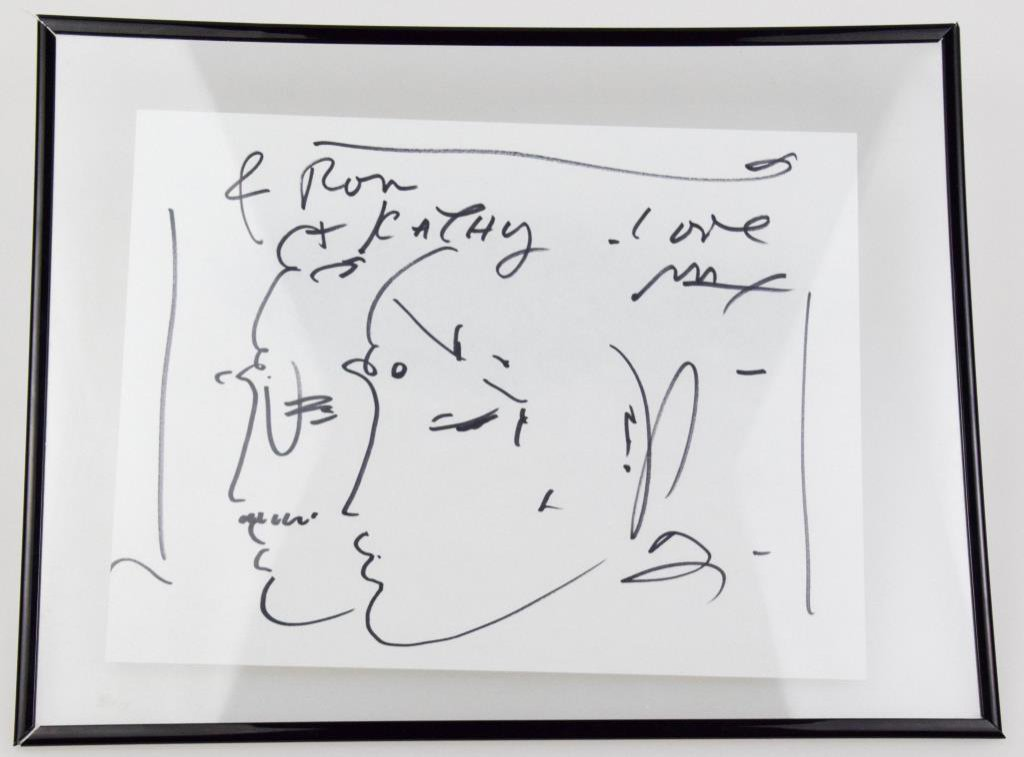 Peter Max Signed Profile Artwork