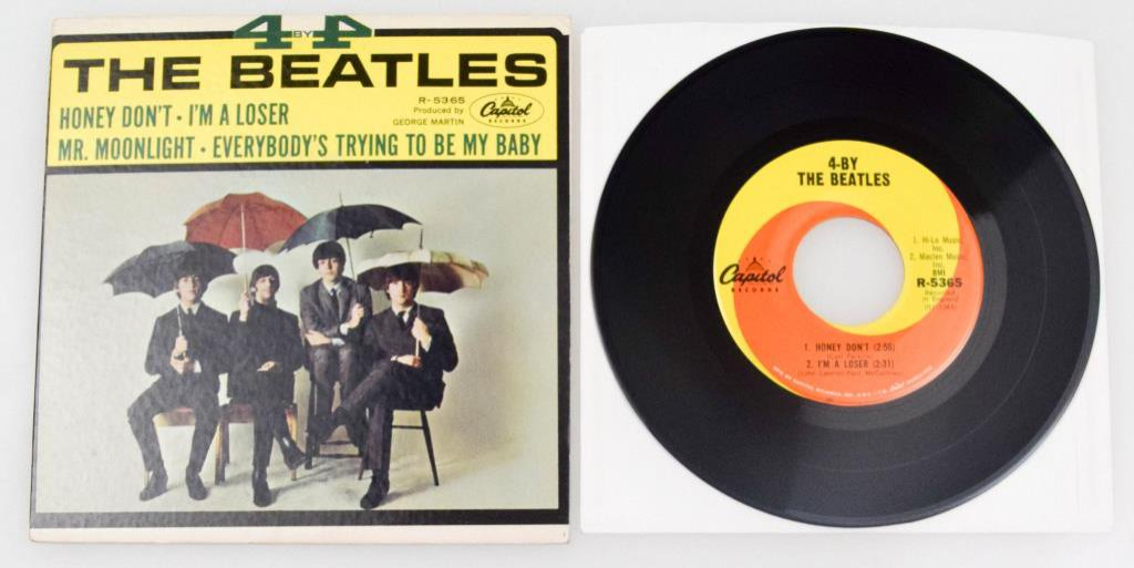 """4 By The Beatles"" EP 7"" Vinyl"