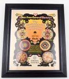 Vintage General Electric/Peter Max Framed Clock Advertisement