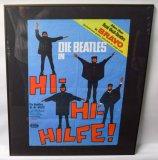 """Beatles """"Hi-Hi-Hilfe!"""" Framed Poster"""