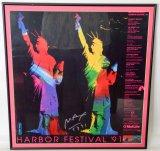 Peter Max Signed Harbor Festival '91 Framed Poster