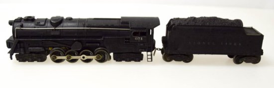 Lionel Turbine S-2 Locomotive No. 671 & Tender