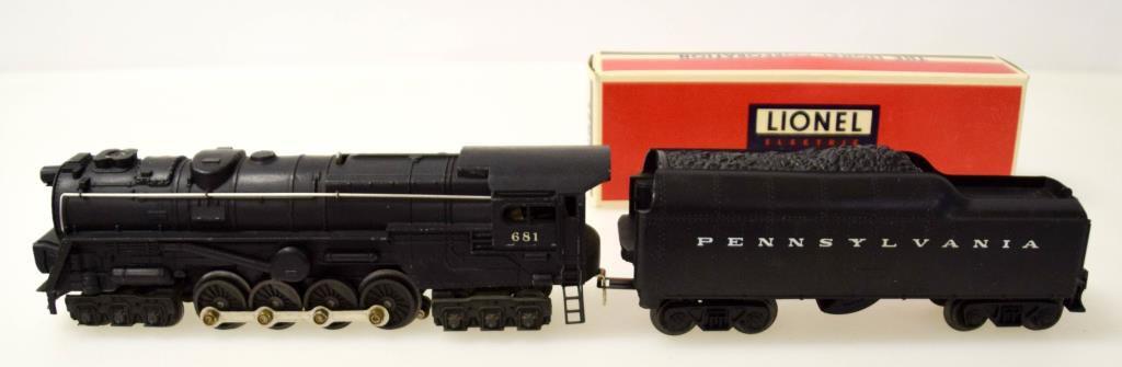 Lionel Turbine S-2 Locomotive No. 681 & Tender
