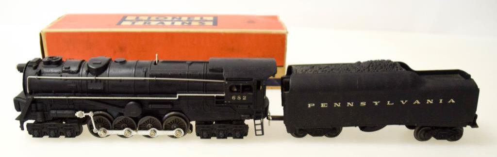 Lionel Turbine S-2 Locomotive No. 682 & Tender