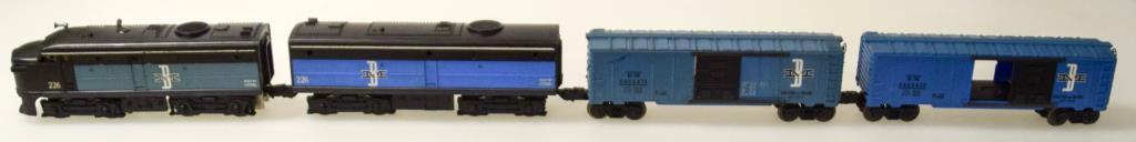 """Lionel Boston & Maine FA No. 226 """"AB"""" Unit & 2) Box Cars"""