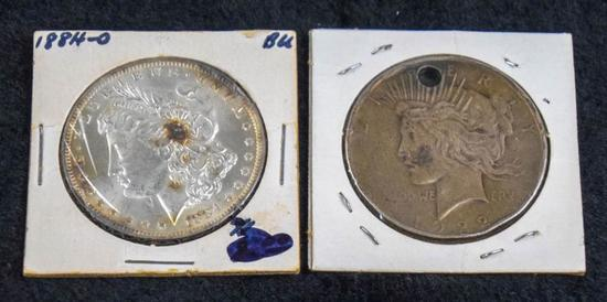 Morgan Silver Dollar & Peace Silver Dollar