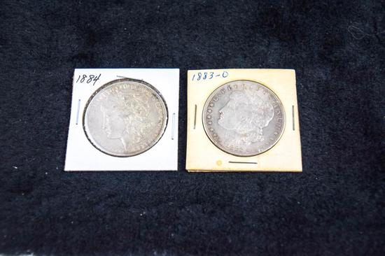 2 Morgan Silver Dollars