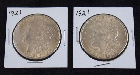 2 Morgan Silver Dollars