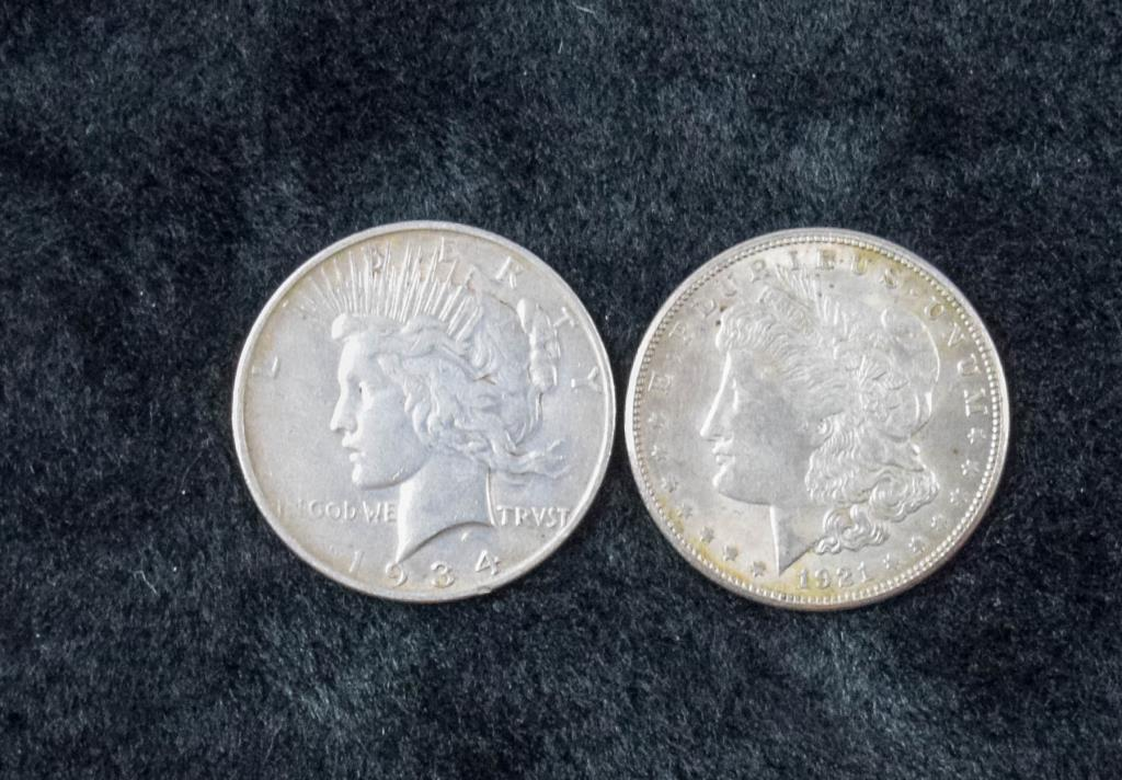 Morgan Dollar & Peace Dollar