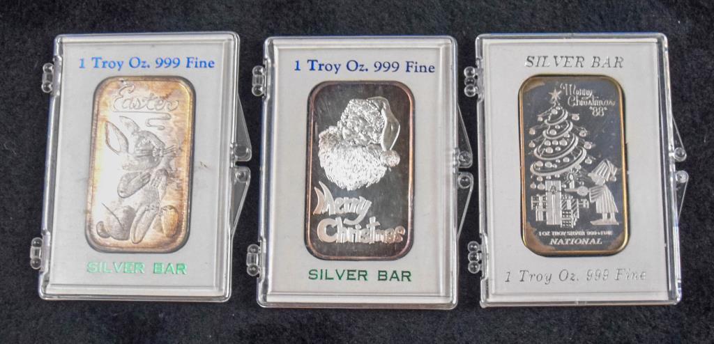 3) Silver bars