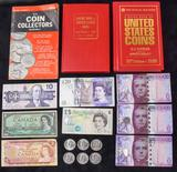 Assorted Book & Currency