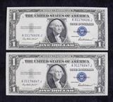 1935 F Series Blue Seal Silver Certificates