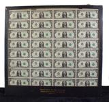 Uncut 1985 One Dollar Bills