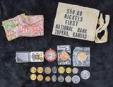 assorted coinage & more