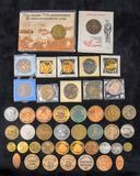 Centennial Tokens & assorted souvenir coins