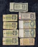 9 foreign paper currency