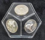 Sterling Silver Medal Commemorates XX Winter Olymp