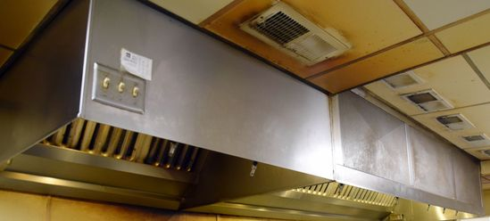 14' stainless steel hood, 2-piece, make-up air, roof exhauster & fire suppression