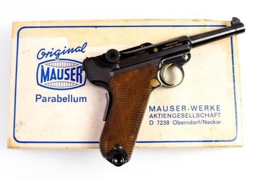 "Mauser-Werke/Interarms Interarms ""Swiss-Style"" Mauser Eagle 9mm Luger"