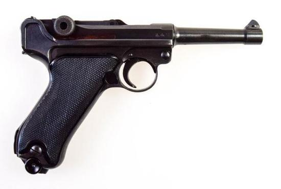 "Mauser Luger Code ""byf"", 42 date Black Widow 9mm Para"