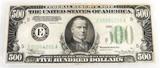 1934 A Series $500 bill