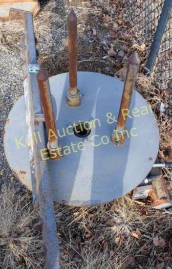 3pt hydraulic bale roller
