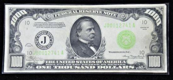 1934 Series $1000 Federal Reserve Note