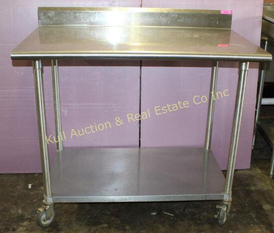 """48"""" s/s work table"""