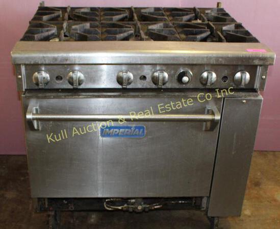 Imperial 6 burner range, full size oven